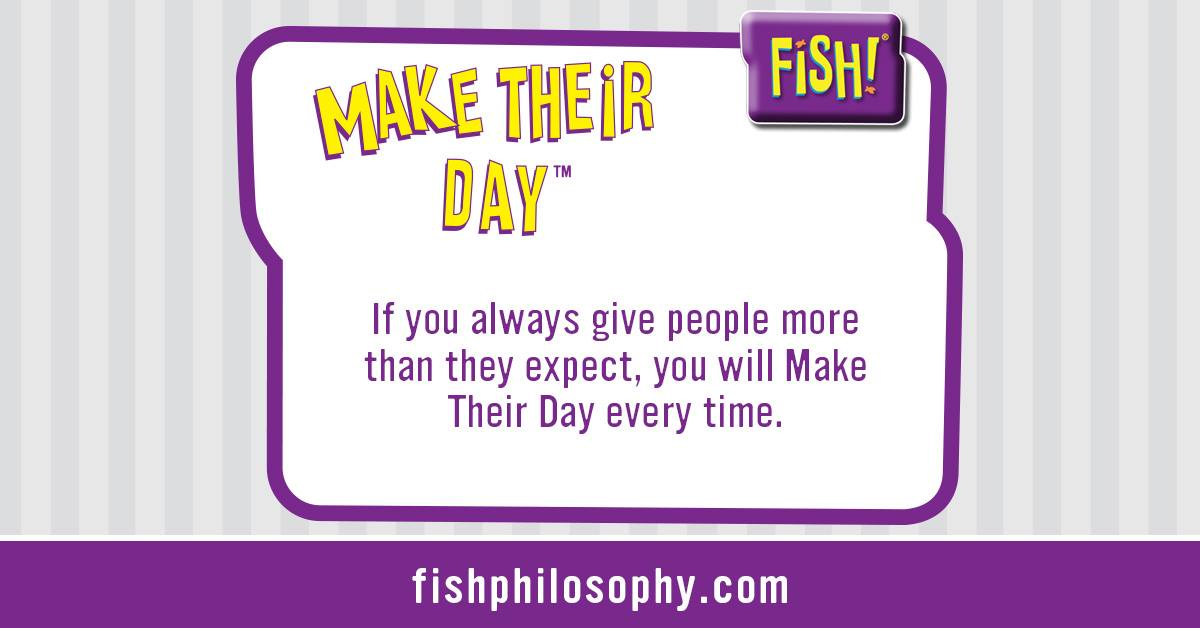 Fish philosophy make their day for Fish philosophy book
